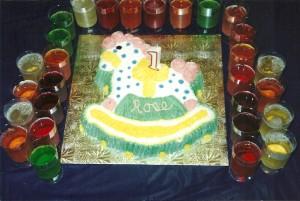 Gâteau anniversaire cheval